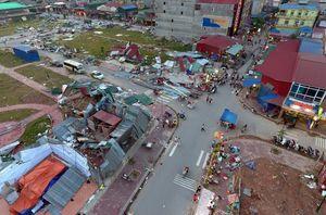 Bãi chiến trường sau trận vòi rồng ở Bắc Ninh