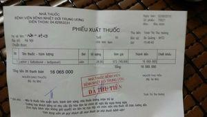 Mua 1 lọ thuốc ở BV Nhiệt đới TW giá 16 triệu nhưng không có mã vạch