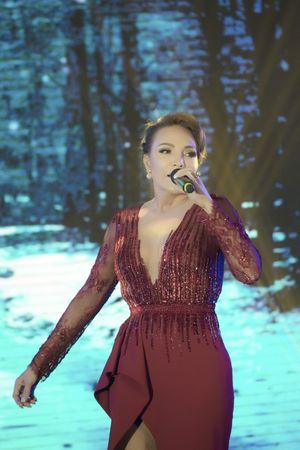 Người đẹp HHVN lộng lẫy xuất hiện cùng ca sĩ Đàm Vĩnh Hưng