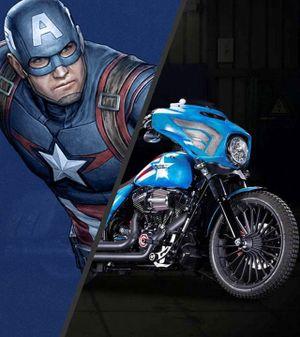 Bộ sưu tập xe Harley-Davidson nhân 75 năm Captain America (P1)