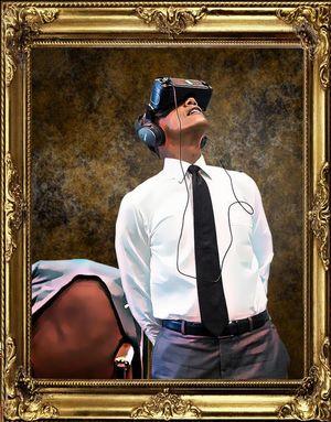 Obama dùng kính VR thành đề tài chế ảnh