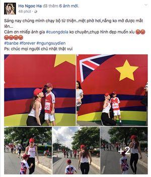 Hồ Ngọc Hà viết status trêu đùa thoải mái với Cường Đô La, hashtag 'bạn bè mãi mãi'