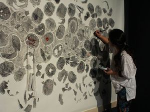 Dựng chân dung độc bản bằng 10.000 dấu vân tay
