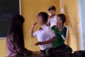 Xôn xao clip cô gái bị đánh ghen, lột đồ ở Phố Nối - Hưng Yên