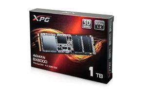 ADATA ra mắt dòng SSD M.2 NVMe XPG SX8000, 4 mức dung lượng, đọc trên 2000 MB/s, bảo hành 5 năm