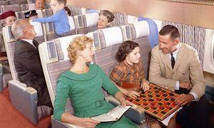 Hành khách máy bay đường dài giải khuây thời xưa