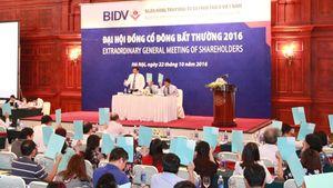 BIDV chốt chi trả cổ tức năm 2015 bằng tiền mặt