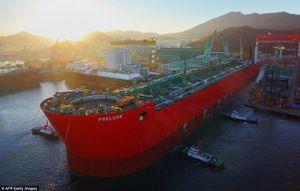 Các công đoạn đóng chiếc tàu thủy lớn nhất thế giới Prelude