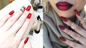 1001 ý tưởng nail cho cô nàng cuồng màu đỏ