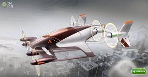 Airbus 'thai nghén' xe taxi tự bay Vahana