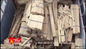 Phát hiện xe ô tô chở gỗ với số lượng lớn