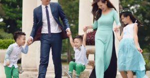 Tan chảy với khoảnh khắc bên vợ đẹp, con xinh của Phan Anh