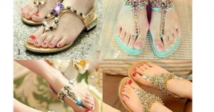 4 chiêu tự làm đôi dép sandal bệt đẹp lóa mắt