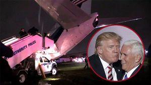 Máy bay ứng viên phó tổng thống Mỹ trượt dài trên đường băng