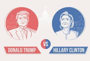 Những con số biết nói về Trump và Clinton