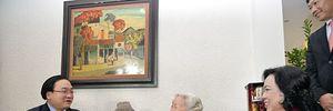 Bí thư Thành ủy Hoàng Trung Hải thăm, chúc Tết các nguyên lãnh đạo TP Hà Nội