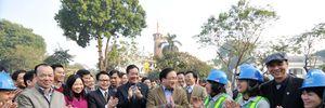 Bí thư Thành ủy Hoàng Trung Hải thăm và chúc Tết một số đơn vị trên địa bàn Hà Nội