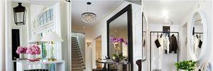 Hành lang gắn gương trang trí đầy ấn tượng