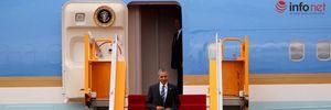 """Giây phút Tổng thống Obama rời chuyên cơ để lên """"Quái thú"""" tại Tân Sơn Nhất"""