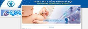 Hà Nội tổ chức đăng ký 2.500 liều vắc xin Infarix hexa qua mạng vào 9h ngày 31/5