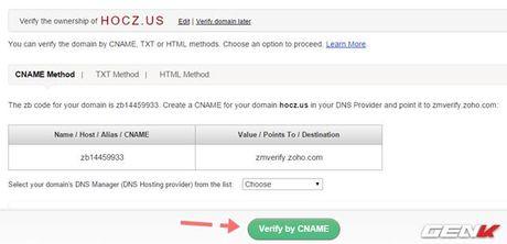 Tạo email miễn phí với tên miền cá nhân bằng Zoho Mail