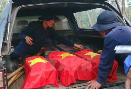 Phát hiện 29 hài cốt liệt sĩ tại căn cứ Vạt Lài - B3, An Giang