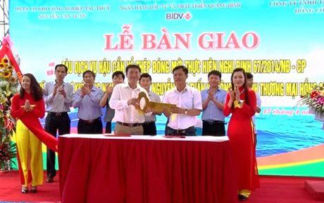 Quang Binh: Tau vo thep dich vu hau can nghe ca dau tien vao hoat dong - Anh 1