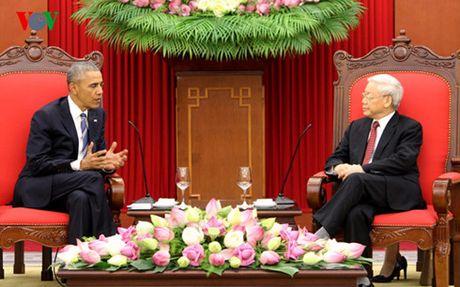Tong Bi thu Nguyen Phu Trong tiep Tong thong Hoa Ky Barack Obama - Anh 1