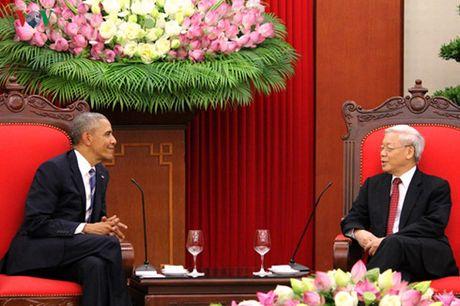 Tong Bi thu Nguyen Phu Trong tiep Tong thong Hoa Ky Barack Obama - Anh 2