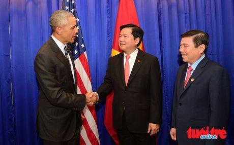 Tong thong Obama gap go doanh nghiep Viet Nam - Anh 1