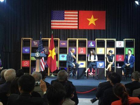 Tong thong Obama gap go doanh nghiep Viet Nam - Anh 3