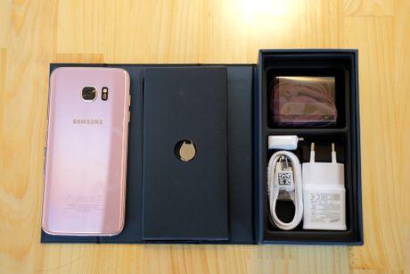 Mo hop Galaxy S7 edge mau hong chinh hang vua ban o VN - Anh 3
