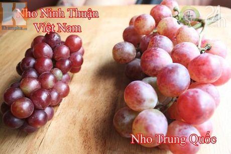 Lam sao de phan biet nho Ninh Thuan va nho Trung Quoc? - Anh 1