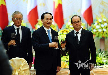 Thực đơn đặc biệt chiêu đãi Tổng thống Pháp