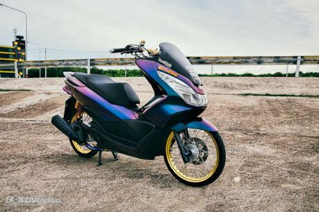 Ngắm Honda PCX 150 độ vàng siêu đắt của 'dân chơi'
