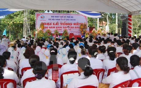 To chuc Dai le ky niem 90 nam ngay khai dao Cao Dai tai TP.HCM - Anh 1