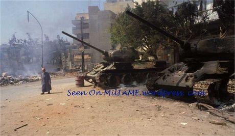"Kinh ngac: ""Bo lao"" T-34-85 van tham chien o Syria - Anh 8"