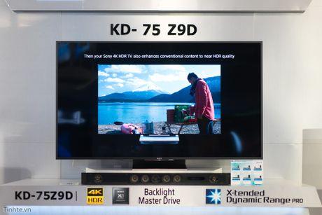 Tren tay TV Sony Bravia Z9D: Thiet ke ngau, dung den LED nen full-array, gia du kien duoi 200 trieu - Anh 1