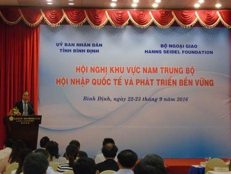 Binh Dinh: Hoi nghi Khu vuc Nam Trung bo ve 'Hoi nhap quoc te va phat trien ben vung' - Anh 1