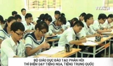 Bo Giao duc phan hoi thi diem day tieng Nga, Trung - Anh 1