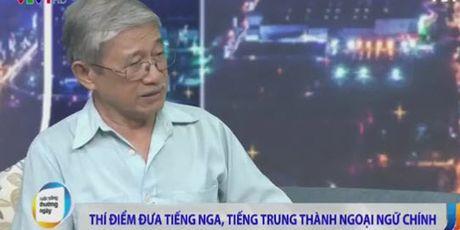 Bo GD&DT tra loi viec thi diem day tieng Nga va tieng Trung dang gay tranh cai - Anh 2