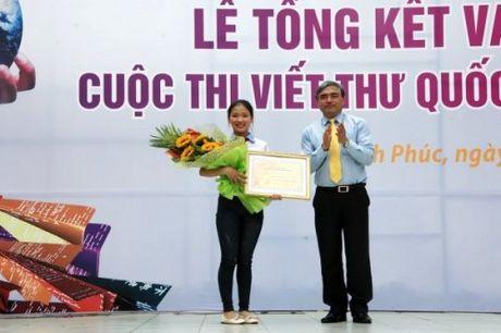 Viet Nam dat giai Nhat cuoc thi viet thu quoc te UPU 45 - Anh 1
