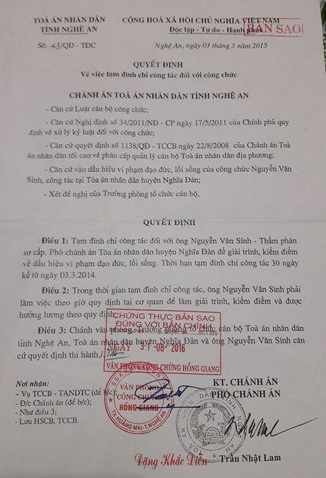 TAND tinh Nghe An ''phot lo' cac noi dung khieu nai cua ong Nguyen Van Sinh? - Anh 1