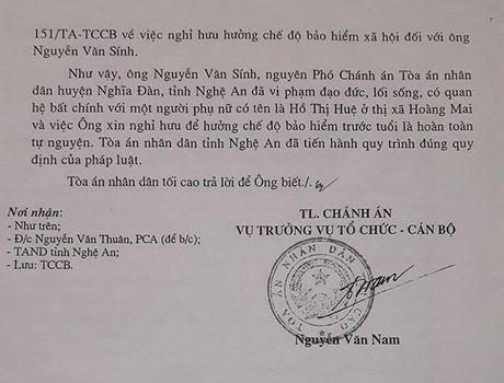 TAND tinh Nghe An ''phot lo' cac noi dung khieu nai cua ong Nguyen Van Sinh? - Anh 3