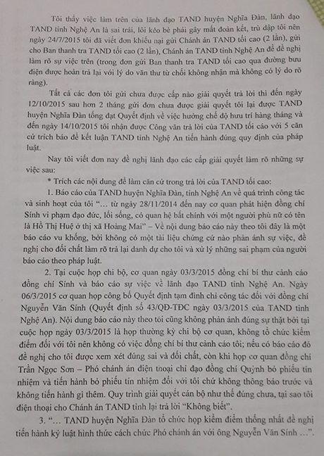 TAND tinh Nghe An ''phot lo' cac noi dung khieu nai cua ong Nguyen Van Sinh? - Anh 4