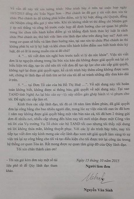 TAND tinh Nghe An ''phot lo' cac noi dung khieu nai cua ong Nguyen Van Sinh? - Anh 5