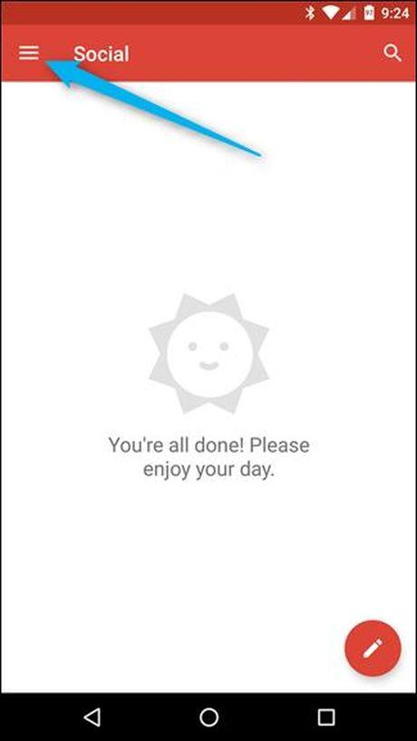 Huong dan them tai khoan email ben thu ba vao ung dung Gmail tren Android - Anh 1