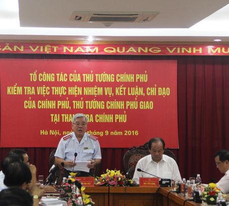 Co ban hoan thanh nhiem vu Chinh phu, Thu tuong Chinh phu giao - Anh 2