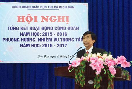 CD giao duc thi xa Dien Ban (Quang Nam): Tong ket hoat dong cong doan nam hoc 2015-2016 - Anh 1
