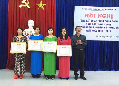 CD giao duc thi xa Dien Ban (Quang Nam): Tong ket hoat dong cong doan nam hoc 2015-2016 - Anh 2